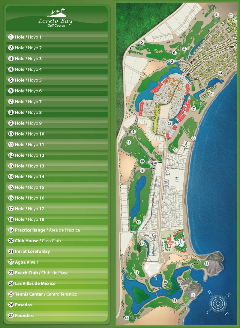 Map of LB Golf Course